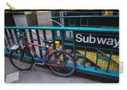 Bike At Subway Entrance Carry-all Pouch