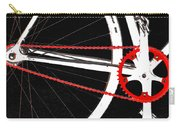Bike In Black White And Red No 2 Carry-all Pouch by Ben and Raisa Gertsberg