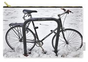 Bike In The Snow Carry-all Pouch