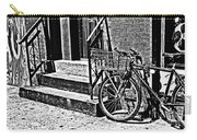 Bike In The Sun Black And White Carry-all Pouch