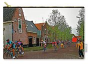 Bike Race On Orange Day In Enkhuizen-netherlands Carry-all Pouch