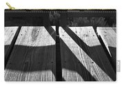 Bike Trail Bridge Bw Carry-all Pouch