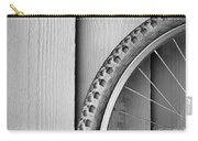 Bike Wheel Black And White Carry-all Pouch by Tim Hester