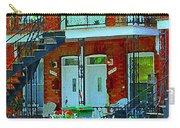 Bikes Balconies Brick Houses Flower Boxes Verdun Duplex Stairs Summer Scenes Carole Spandau Carry-all Pouch