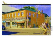 Biking By The Bakery On Bank The Glebe Nicastro Foods And David's Tea Ottawa Streetscene Cspandau    Carry-all Pouch