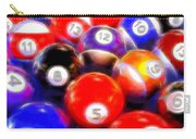 Billiard Balls On The Table Carry-all Pouch