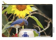 Bluebird And Tea Cup Carry-all Pouch