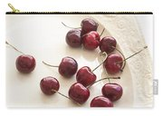 Bing Cherries And White Plate Carry-all Pouch