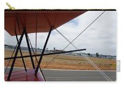 Biplane Taxying Back To Tie Down Carry-all Pouch