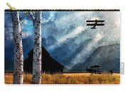 Birch Trees And Biplanes  Carry-all Pouch by Bob Orsillo