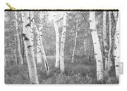 Birch Trees In A Forest, Acadia Carry-all Pouch