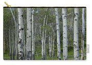 Birch Trees In A Grove No. 0148 Carry-all Pouch