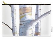 Birch Trees In Three Carry-all Pouch