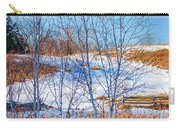 Birches And Cattails Carry-all Pouch