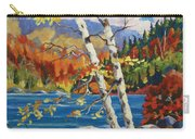 Birches By The Lake Carry-all Pouch
