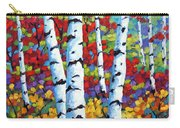 Birches In Abstract By Prankearts Carry-all Pouch by Richard T Pranke