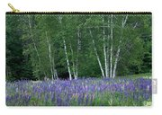 Birches In The Blue Lupine Carry-all Pouch