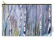 Birches In The Forest Carry-all Pouch