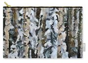 Birches In The Winter Carry-all Pouch