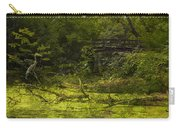 Bird By Bridge In Forest Merged Image Carry-all Pouch