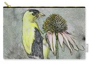 Bird Eating Seeds For One Digital Art Carry-all Pouch