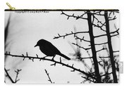 Bird In B And W Carry-all Pouch