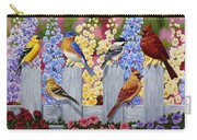 Bird Painting - Spring Garden Party Carry-all Pouch by Crista Forest