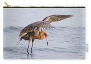 Bird Photograph Reddish Egret Fishing In Ocean  Carry-all Pouch