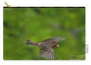 Bird Soaring With Food In Beak Carry-all Pouch