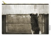Bird Watching Kitty Cat Bw Carry-all Pouch by Andee Design