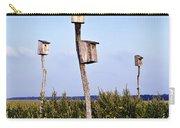 Birdhouses In Salt Marsh. Carry-all Pouch