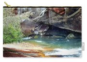Birdrock Waterfall In Spring 2 Carry-all Pouch