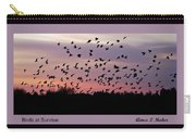 Birds At Sunrise Poster Carry-all Pouch