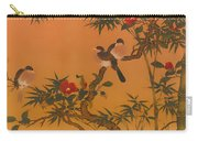 Birds Bamboo And Camellias Carry-all Pouch