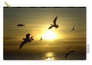 Birds Gathering At Sunset Carry-all Pouch