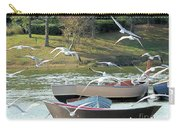 Birds In Flight At The Lake Carry-all Pouch