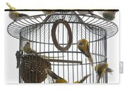 Birds Inside And Outside A Cage Carry-all Pouch