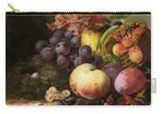 Birds Nest Butterfly And Fruit Basket Carry-all Pouch by Edward Ladell