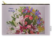 Birthday Bouquet Card Carry-all Pouch