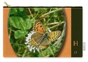 Birthday Greeting Card - American Copper Butterfly Carry-all Pouch
