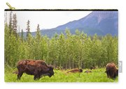 Bison Along Alaska Highway In British Columbia-canada Carry-all Pouch
