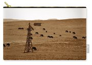 Bison And Windmill Carry-all Pouch
