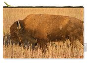 Bison At The Elk Ranch In Grand Teton National Park Carry-all Pouch