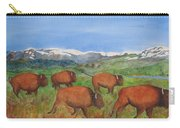 Bison At Yellowstone Carry-all Pouch