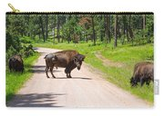 Bison Blocking The Road Carry-all Pouch
