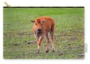 Bison Calf In The Flowers Yellowstone National Park Carry-all Pouch