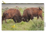 Bison Fight In Grand Teton National Park Carry-all Pouch