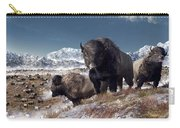 Bison Herd In Winter Carry-all Pouch