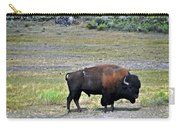 Bison In Lamar Valley Carry-all Pouch by Marty Koch