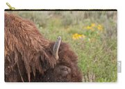 Bison In The Flowers Ingrand Teton National Park Carry-all Pouch